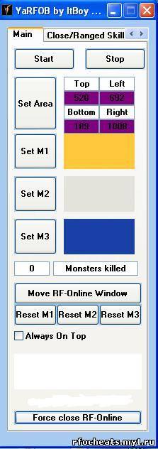 Программа RFRudokop представляет собой двухмерный OG-бот для MMORPG.